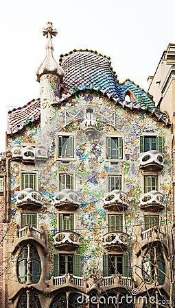 Casa Batllo  by Catalan architect Antoni Gaudi. Barcelona