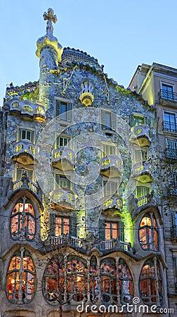 Free Casa Batllo, Gaudi Architecture, Eixample, Barcelona, Spain Royalty Free Stock Photos - 66839288