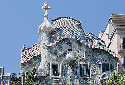 Casa Batlo Facade Barcelona Spain
