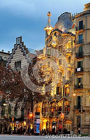 Casa Batllo, Barcelona Editorial Stock Image