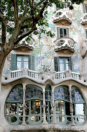Casa Battlo, example of modernism, Barcelona