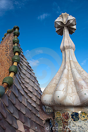 Casa Battlo - roof detail