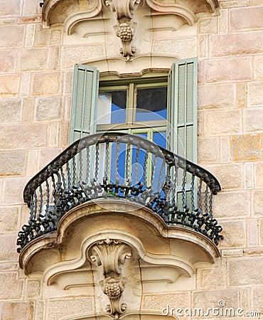 Free Casa Calvet Window Detail Royalty Free Stock Image - 3576706