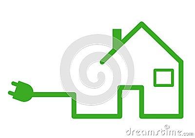 Casa con el enchufe