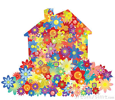 Casa da flor do vetor
