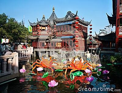 Casa da t del cinese tradizionale immagine stock for Casa tradizionale cinese