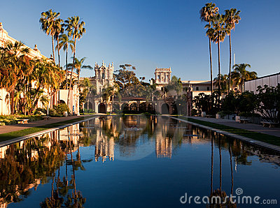 Casa de Balboa and House of Hospitality at sunset