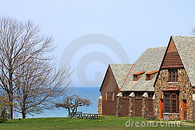 Casa de campo de la línea de costa