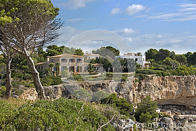 Casa de campo do feriado em Majorca