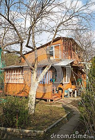 Casa de campo en resorte