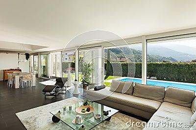 Casa de campo moderna interiores bonitos foto de stock for Interni villa moderna