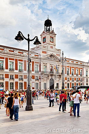 Casa de Correos in Puerta del Sol, Madrid Editorial Photography