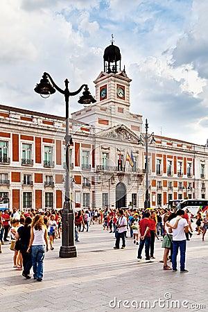 Casa de Correos in Puerta del Sol, Madrid Editorial Photography