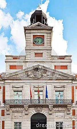 Casa de Correos in Puerta del Sol, Madrid