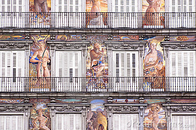Casa de la Panaderia, Plaza Mayor, Madrid. Stock Photo