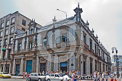Casa de los azulejos ciudad de m xico foto de archivo for Casa de los azulejos ciudad de mexico