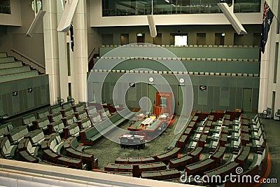 Casa de representantes Canberra Austrália Foto Editorial