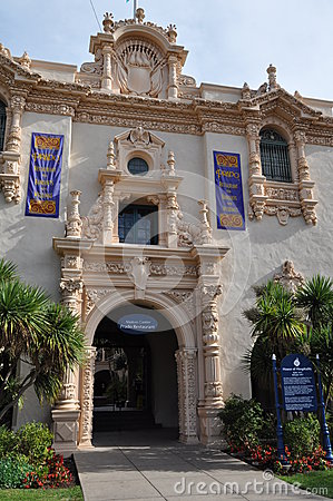Casa del Prado at Balboa Park in San Diego Editorial Photo