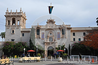 Casa del Prado at Balboa Park in San Diego Editorial Stock Photo
