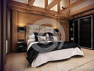 Casa della camera da letto nella montagna illustrazione di for Aiuto nella progettazione della casa