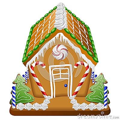 Casa di pan di zenzero con le caramelle fotografia stock - Casa di caramelle ...