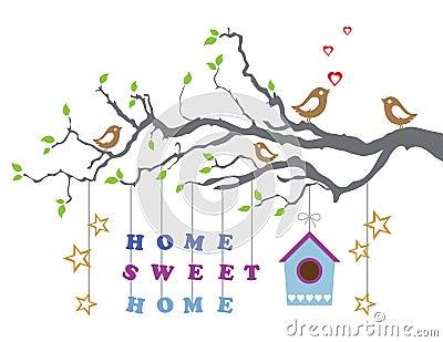 Casa dolce casa muovere nella cartolina d 39 auguri della nuova casa fotografia stock libera da - Auguri divertenti per la casa nuova ...