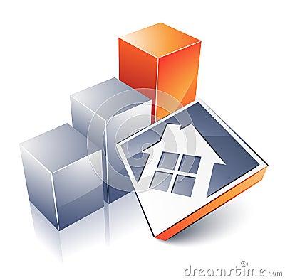 Casa e gráfico