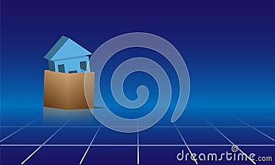 Casa en caja