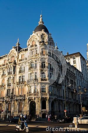 Casa Gallardo Building in Madrid, Spain. Editorial Photography