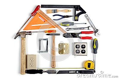 casa hecha de herramientas foto de archivo imagen 14096590