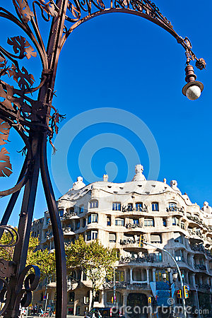 Casa Mila in Barcelona Editorial Stock Image