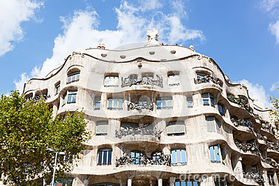 Casa Mila in Barcelona. Editorial Photography