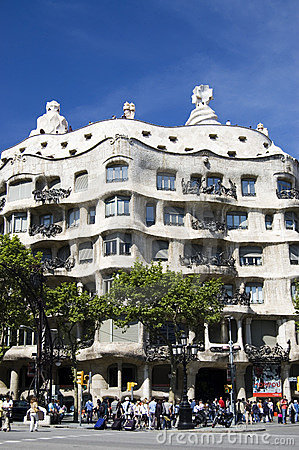Casa Mila, Gaudi House Editorial Stock Image