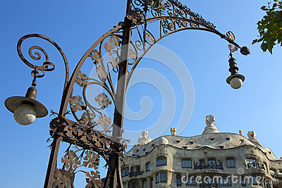 Casa Milia - Barcelona - Spain Editorial Stock Image