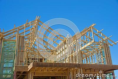 Casa nova sob a construção