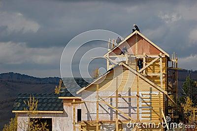 Casa sob a construção