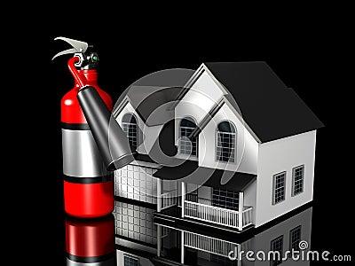 Casa y extintor imagen de archivo libre de regal as imagen 5447456 - Extintor para casa ...