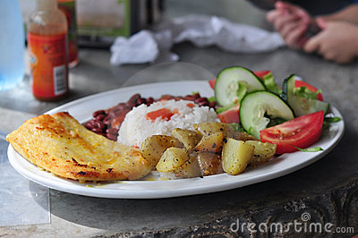 Casado Typical Costa Rican Food