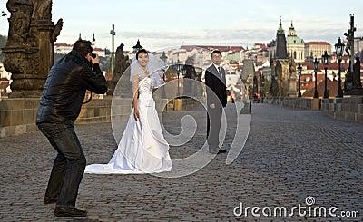 Casamento de Praga Imagem de Stock Editorial