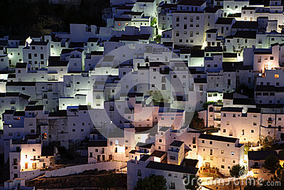 Casares at night. Spain