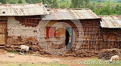 Casas africanas en Etiopía