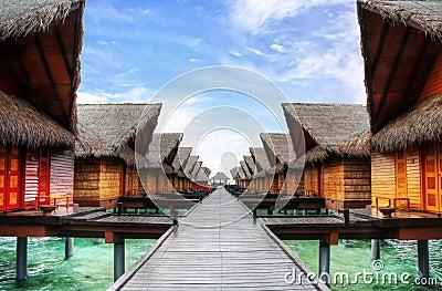 Casas de campo do oceano