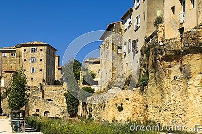 Cidade pequena, região de Luberon, France