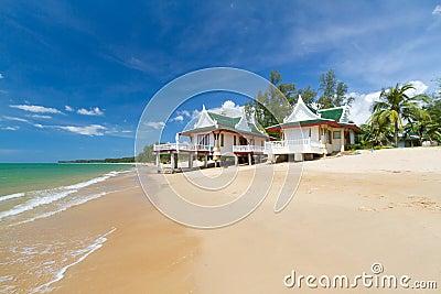 Casas de vacaciones orientales de la configuración