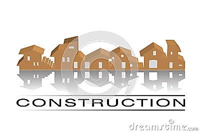 Casas - logotipo da construção