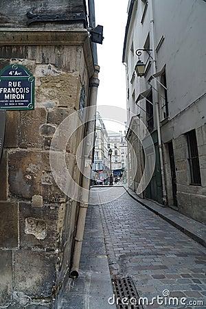 casas medievales en rue francois miron pars