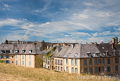 Casas velhas além do rampart