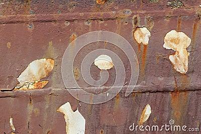 Casca oxidada de um navio
