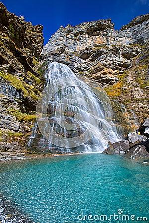 Free Cascada Cola De Caballo At Ordesa Valley Pyrenees Spain Royalty Free Stock Image - 37613596