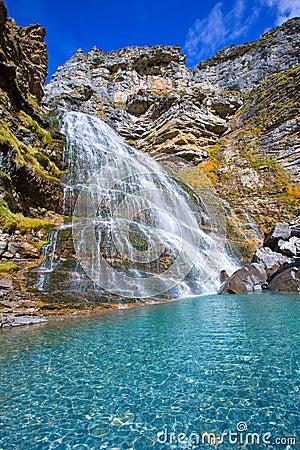 Free Cascada Cola De Caballo At Ordesa Valley Pyrenees Spain Royalty Free Stock Photos - 37613678